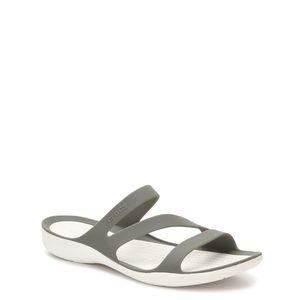 Crocs NEW Swiftwater Sandals Water Shoe 11 W Gray